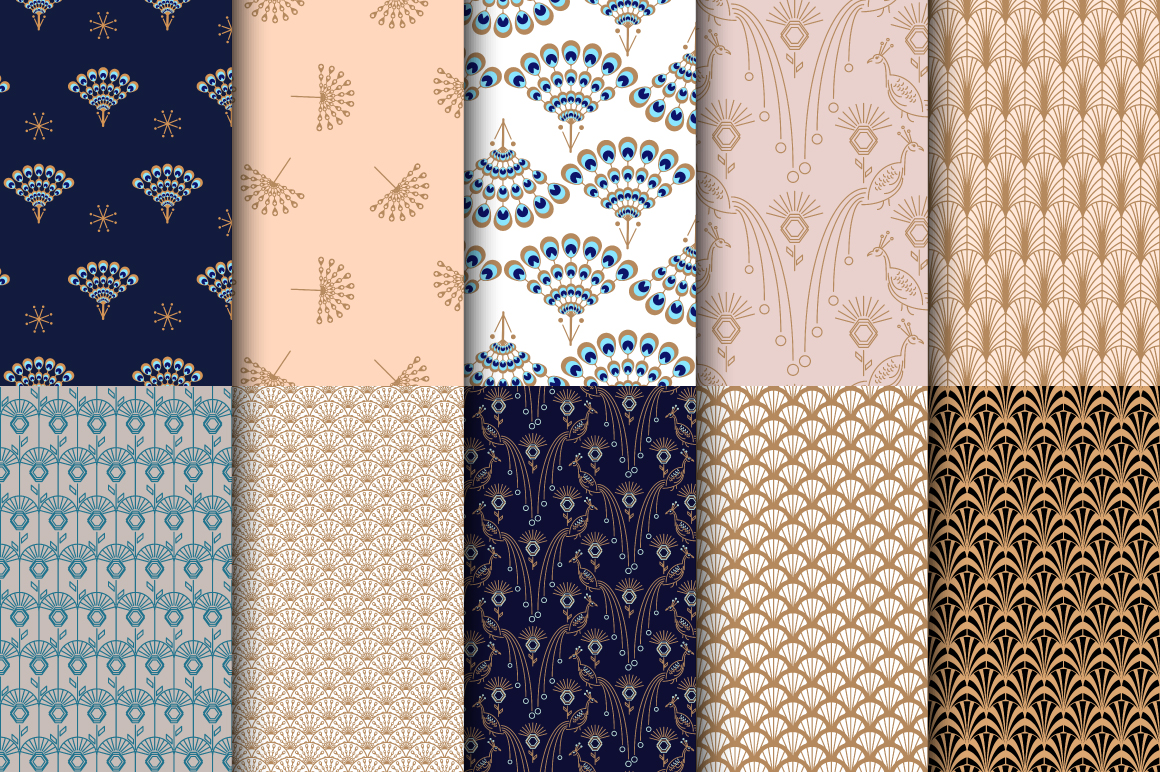 Peacock Fest - Seamless Patterns example image 6