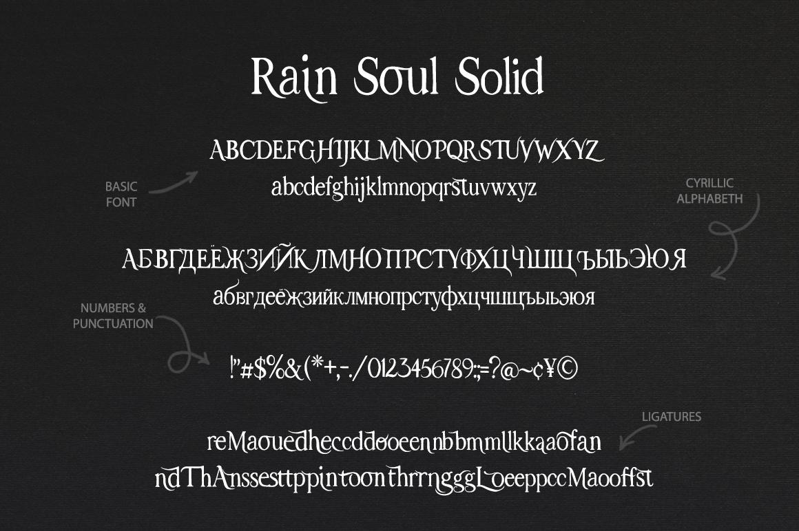 Rain Soul. SVG Font. example image 14