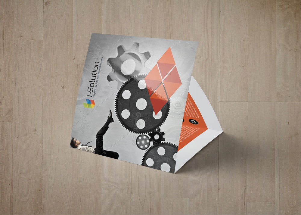 Business Strategic Square Trifold Brochure example image 2
