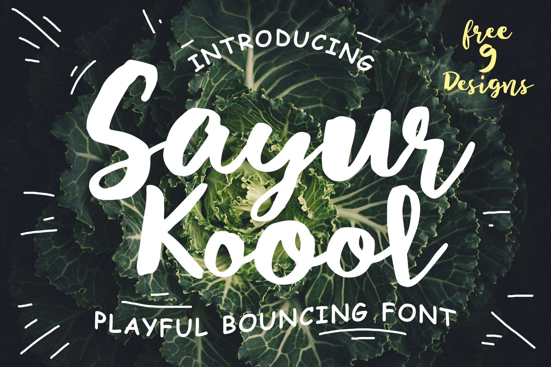 Sayur Koool and Bonus 9 Editable Designs example image 1