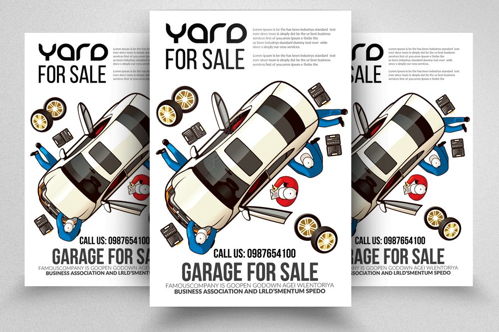 Garage Sale Flyer Template example image 1