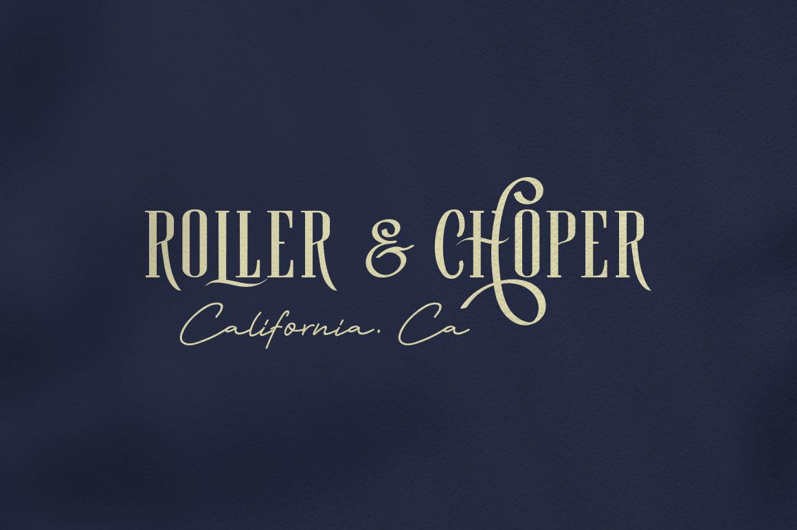 Roller Coaster Elegant Serif Extra example image 10
