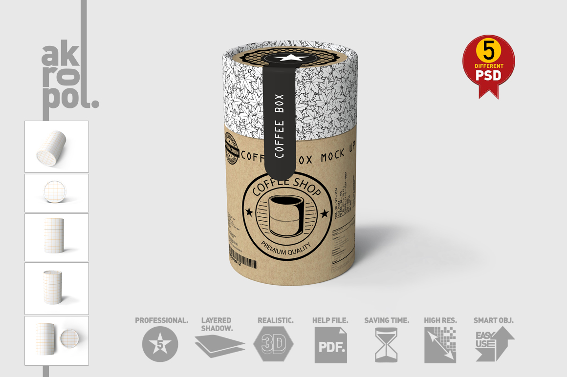 Paper tubes Mock up example image 11