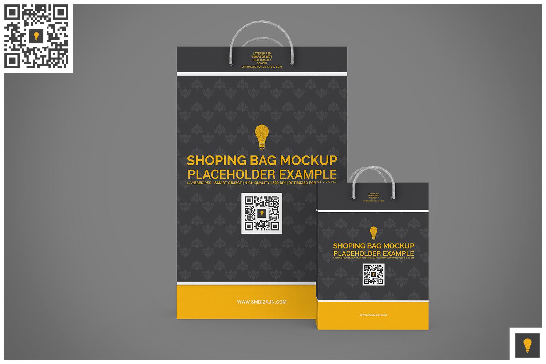 Shopping Bag Mock-up example image 5