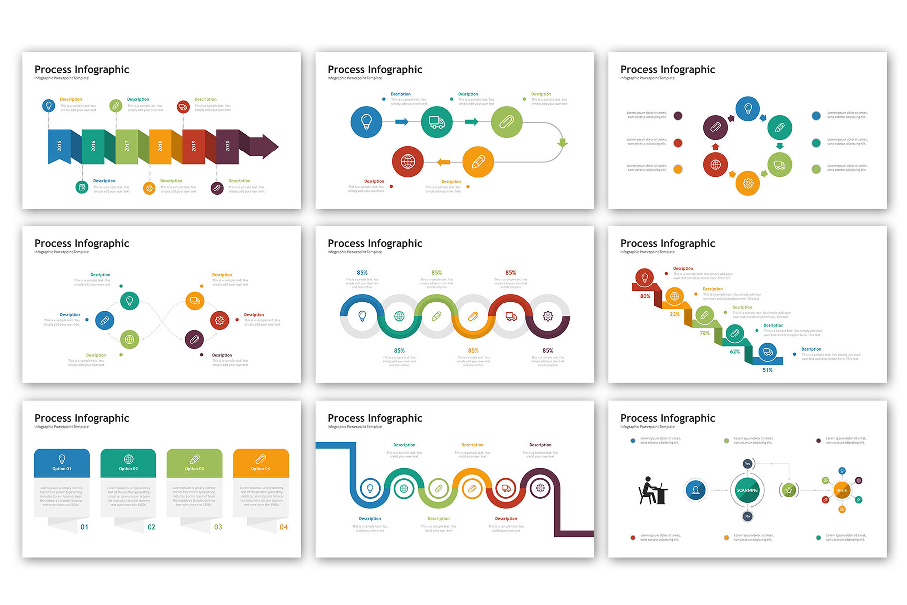 Process Presentation - Infographic Template example image 5