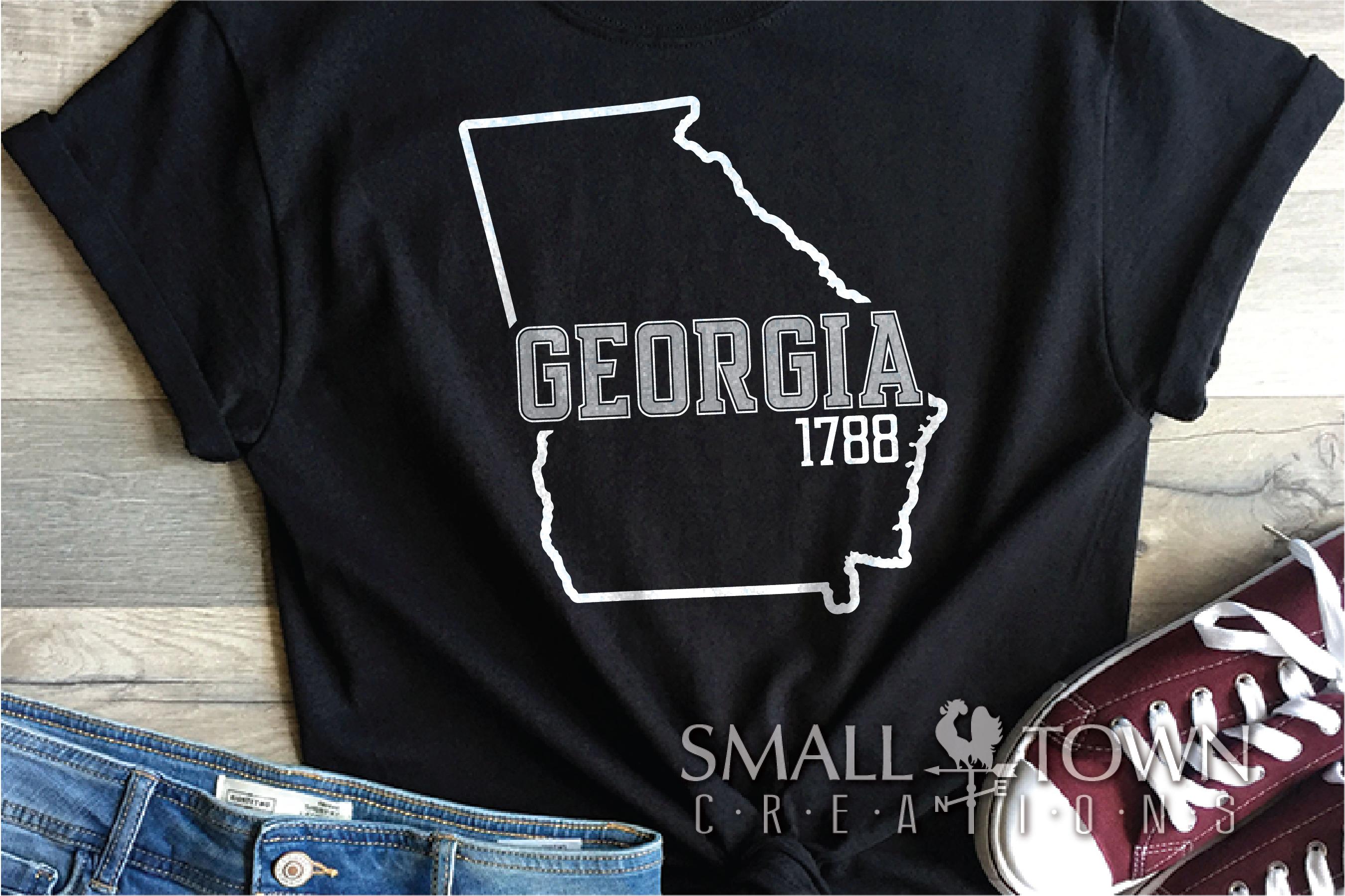 Georgia, Peach State - slogan, logo, PRINT, CUT & DESIGN example image 4