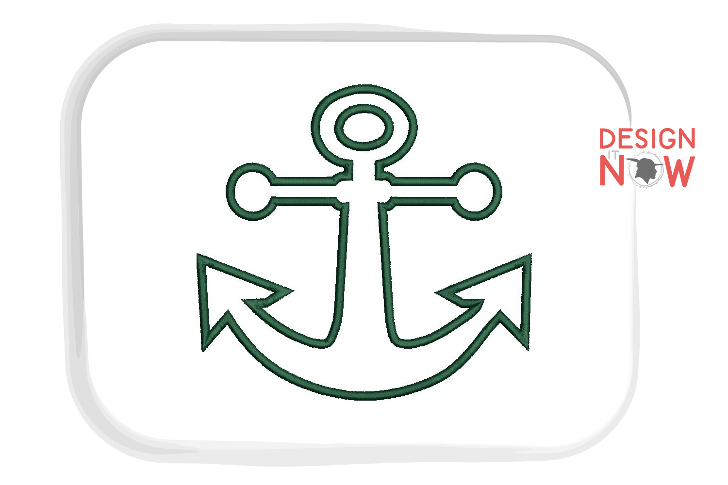 Anchor Applique Embroidery Design, Sea Embroidery Pattern example image 5