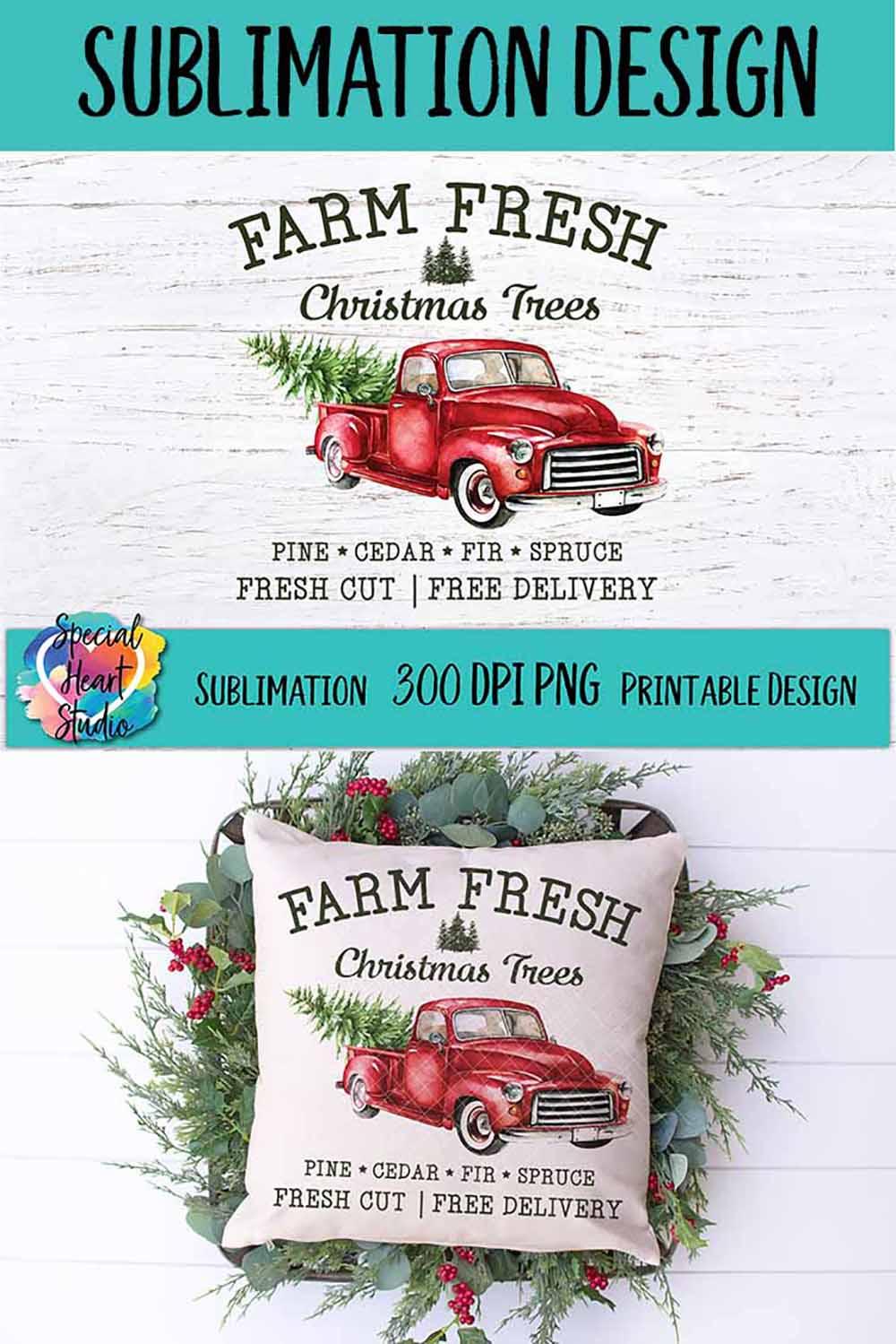 Christmas Sublimation Printable - Farm Fresh Christmas Trees example image 4