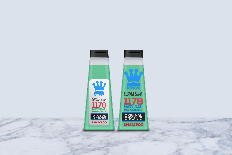 Hair and Body Shampoo Bottle Mock-Up example image 7