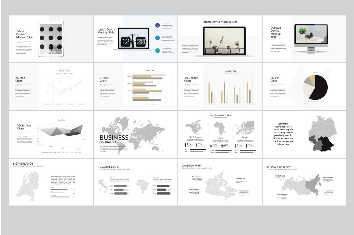 Komodo Minimal Powerpoint Template example image 5