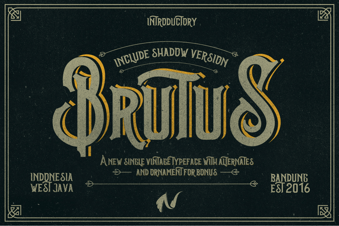 Brutus Typeface example image 1