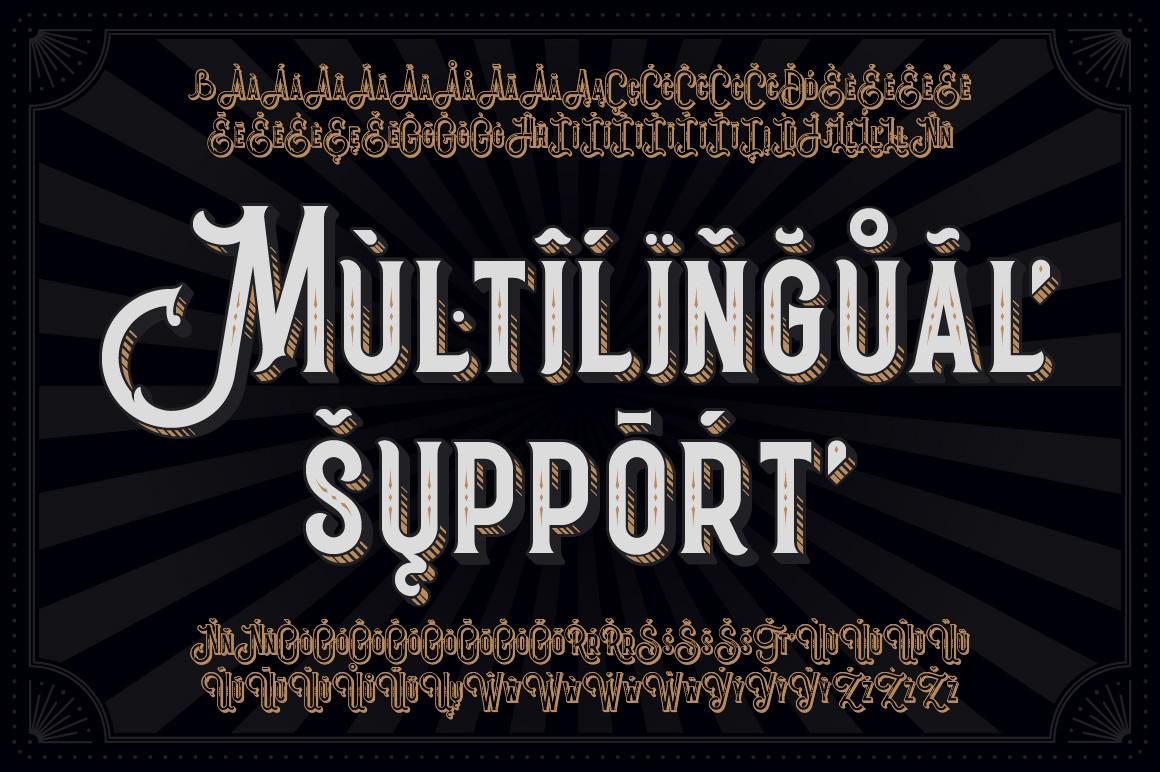 Black Queen font & bonus graphics example image 4