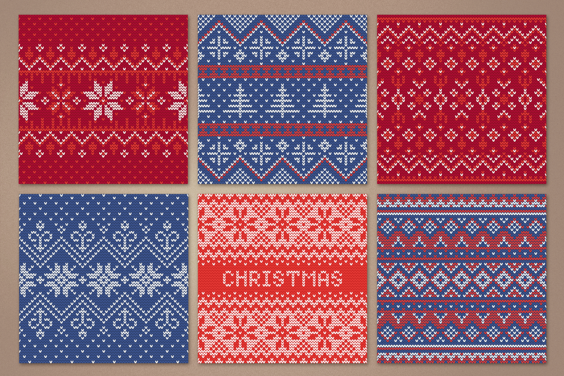 12 Knitting Seamless Patterns example image 3