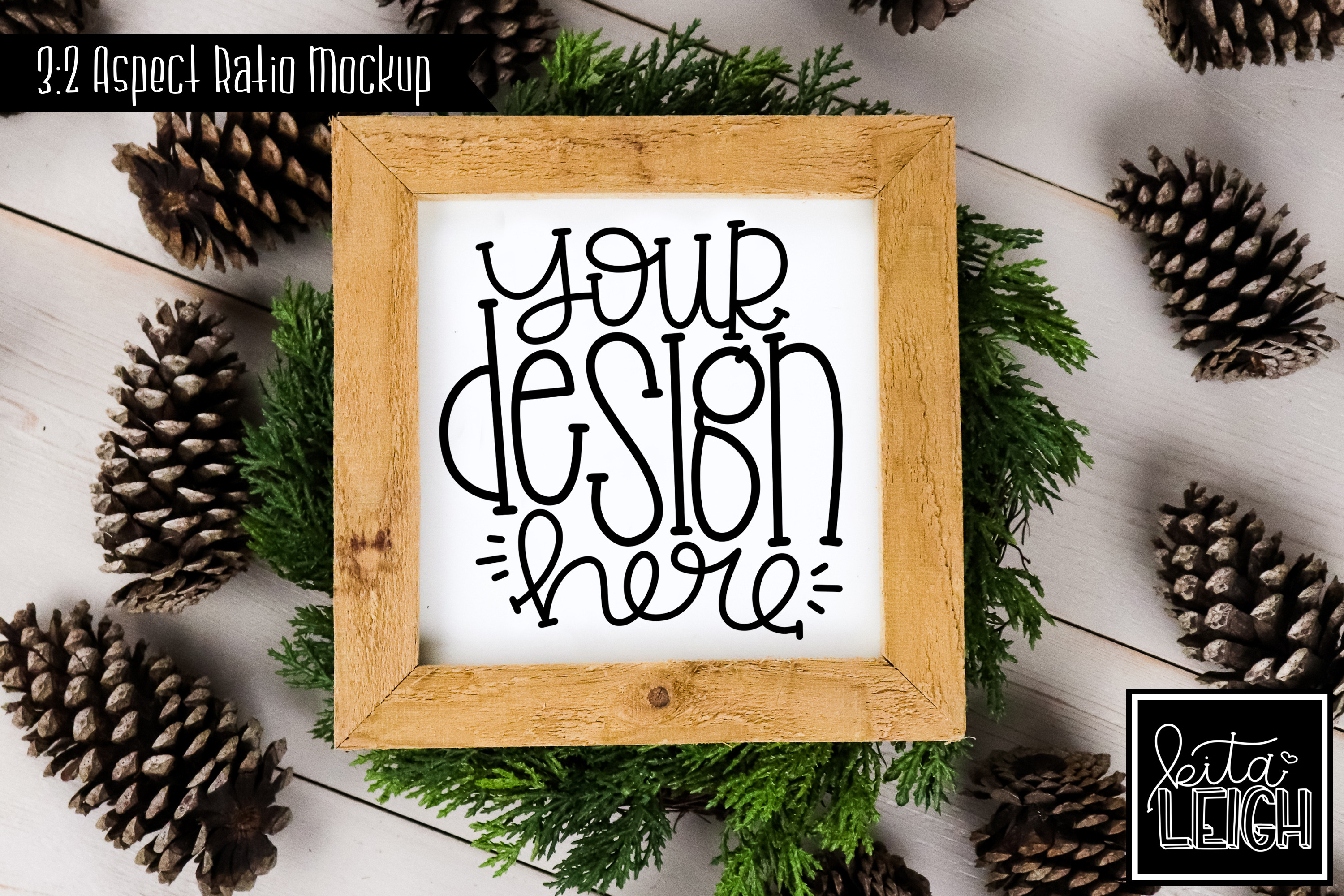 Square Sign Fall and Christmas Mockup example image 1