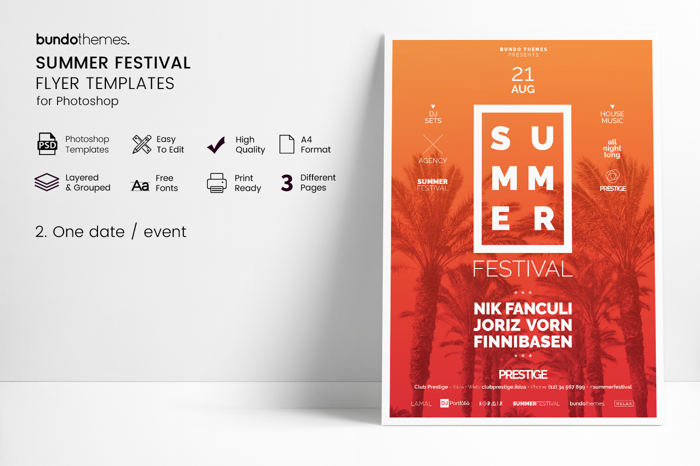 Summer Festival Flyer Templates example image 5