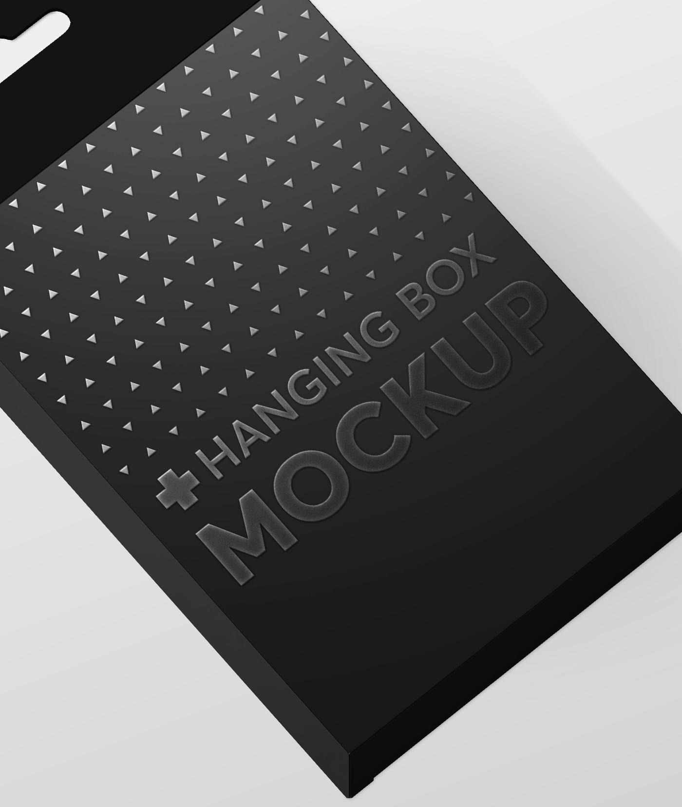 Flat Rectangle Box with Hanger Mockup example image 6