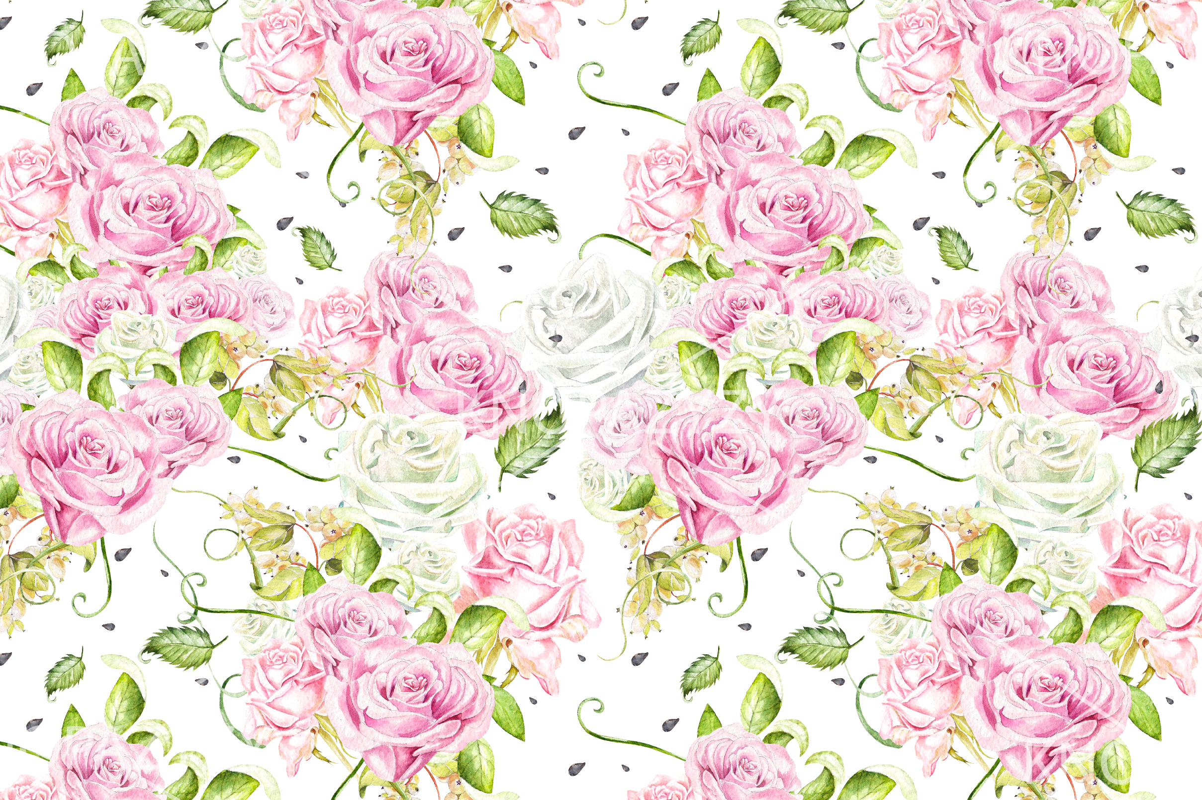 15 Hand Drawn Watercolor PATTERNS example image 3