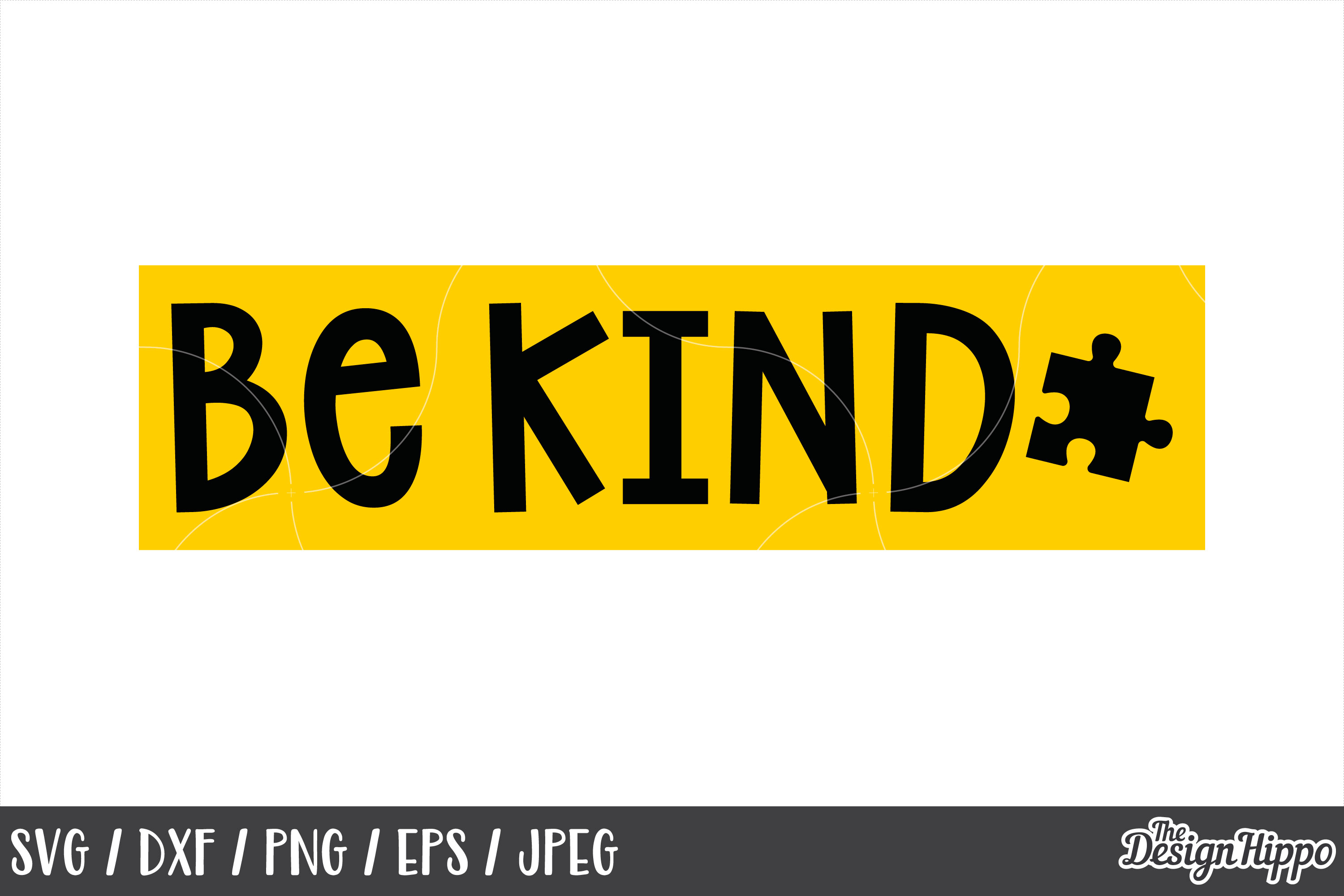 Autism Quote, Be Kind, Puzzle Piece, SVG DXF PNG Cut Files example image 1