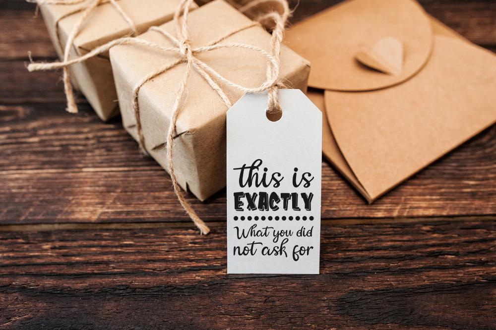 Funny Christmas Tags SVG Bundle example image 3