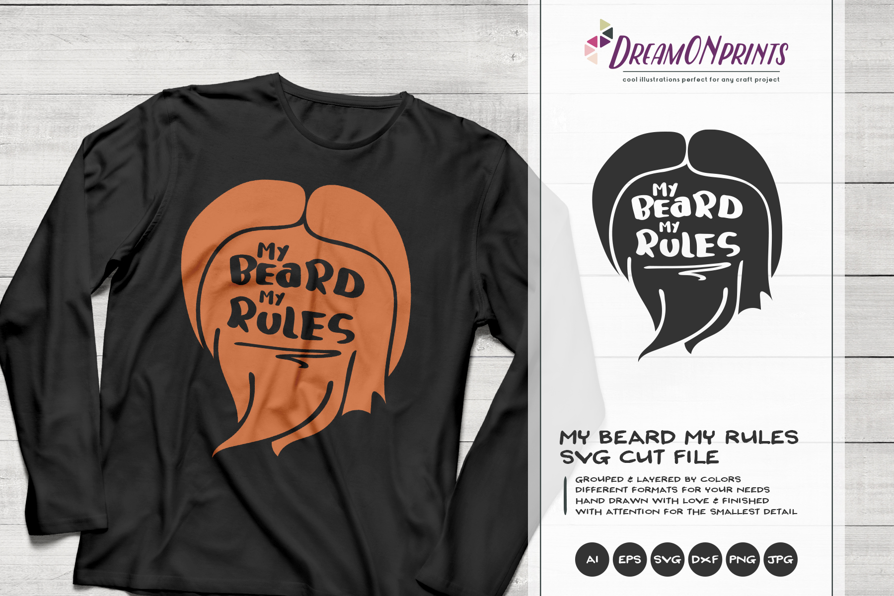 My Beard, My Rules | Funny Beard SVG example image 1