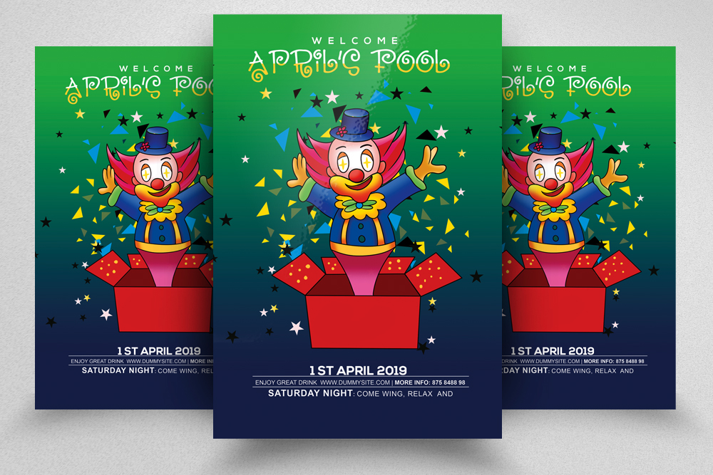 4 April Fool's Day Flyers Bundle example image 4
