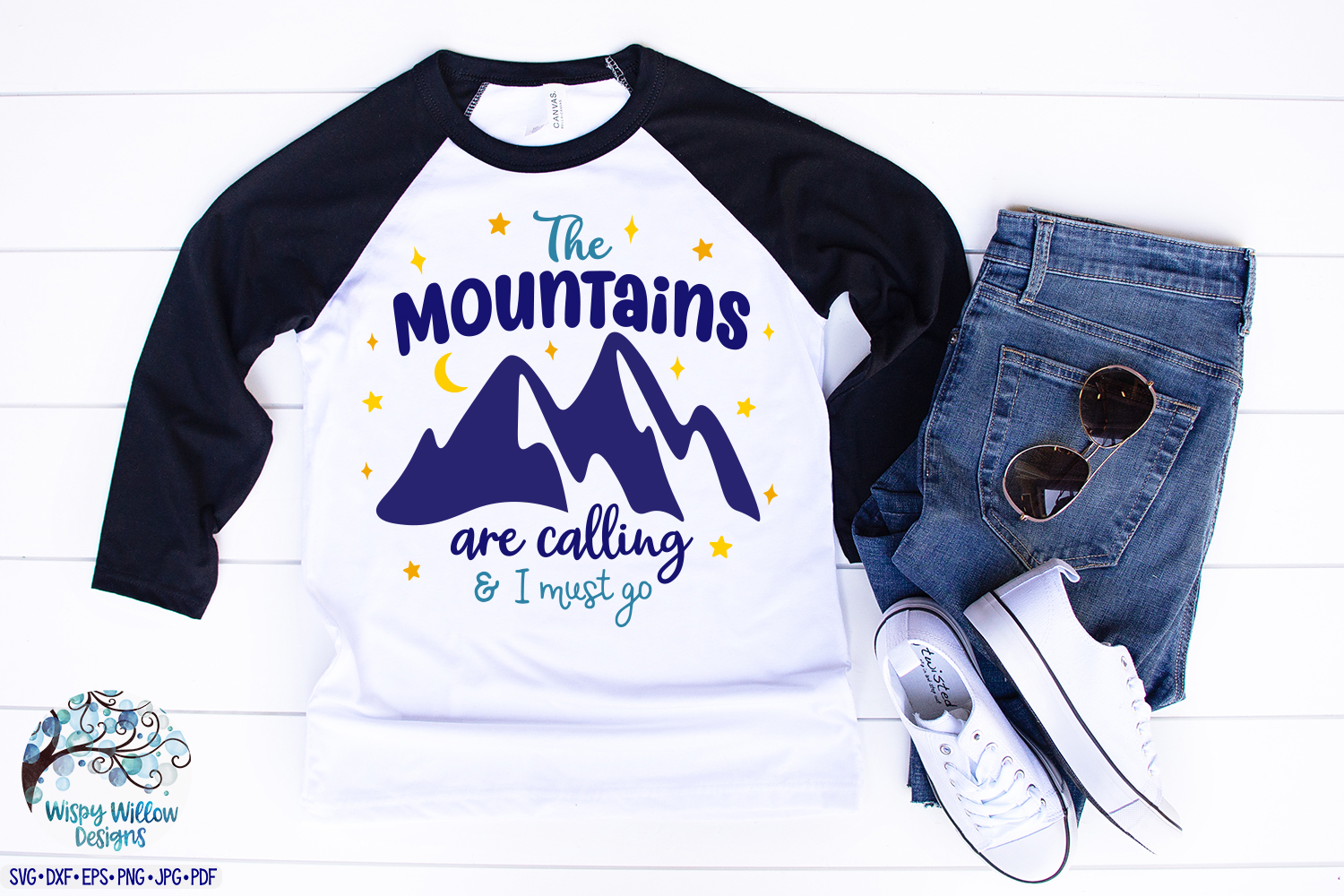 The Mountains Are Calling and I Must Go | Camping SVG example image 2