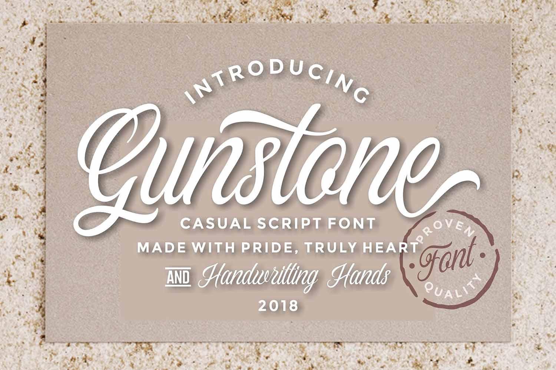 Gunstone Script example image 1