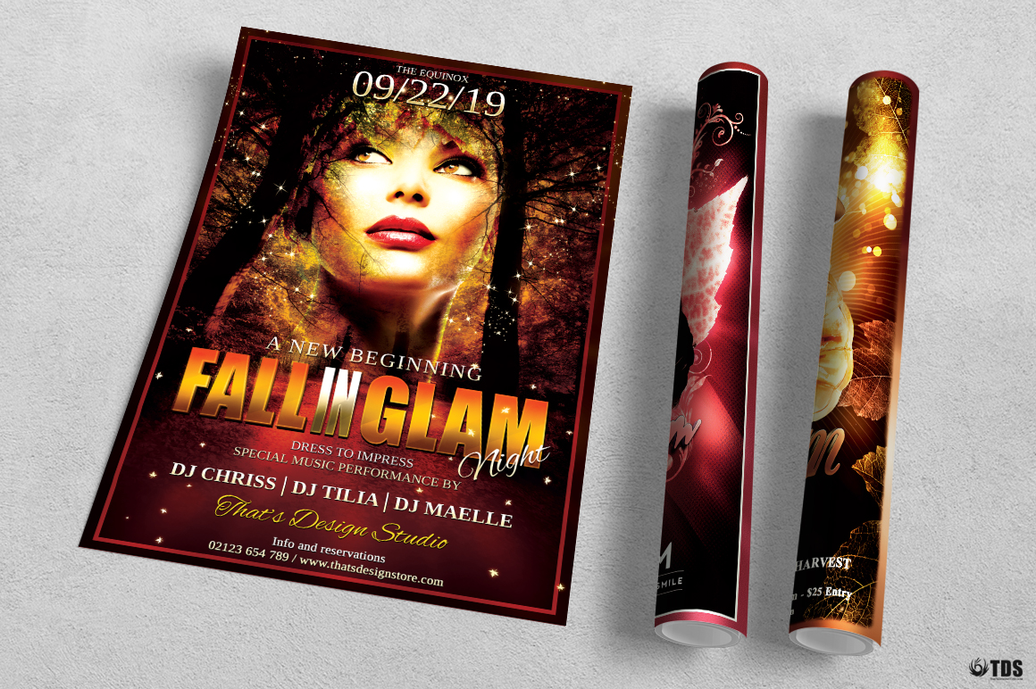 Fall in Glam Flyer Bundle V1 example image 4