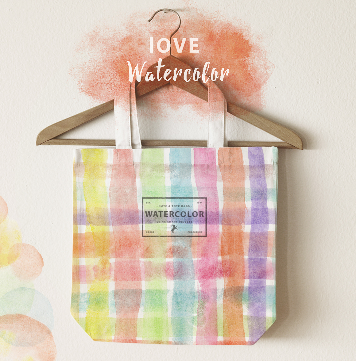 Rainbow watercolor seamless pattern example image 8