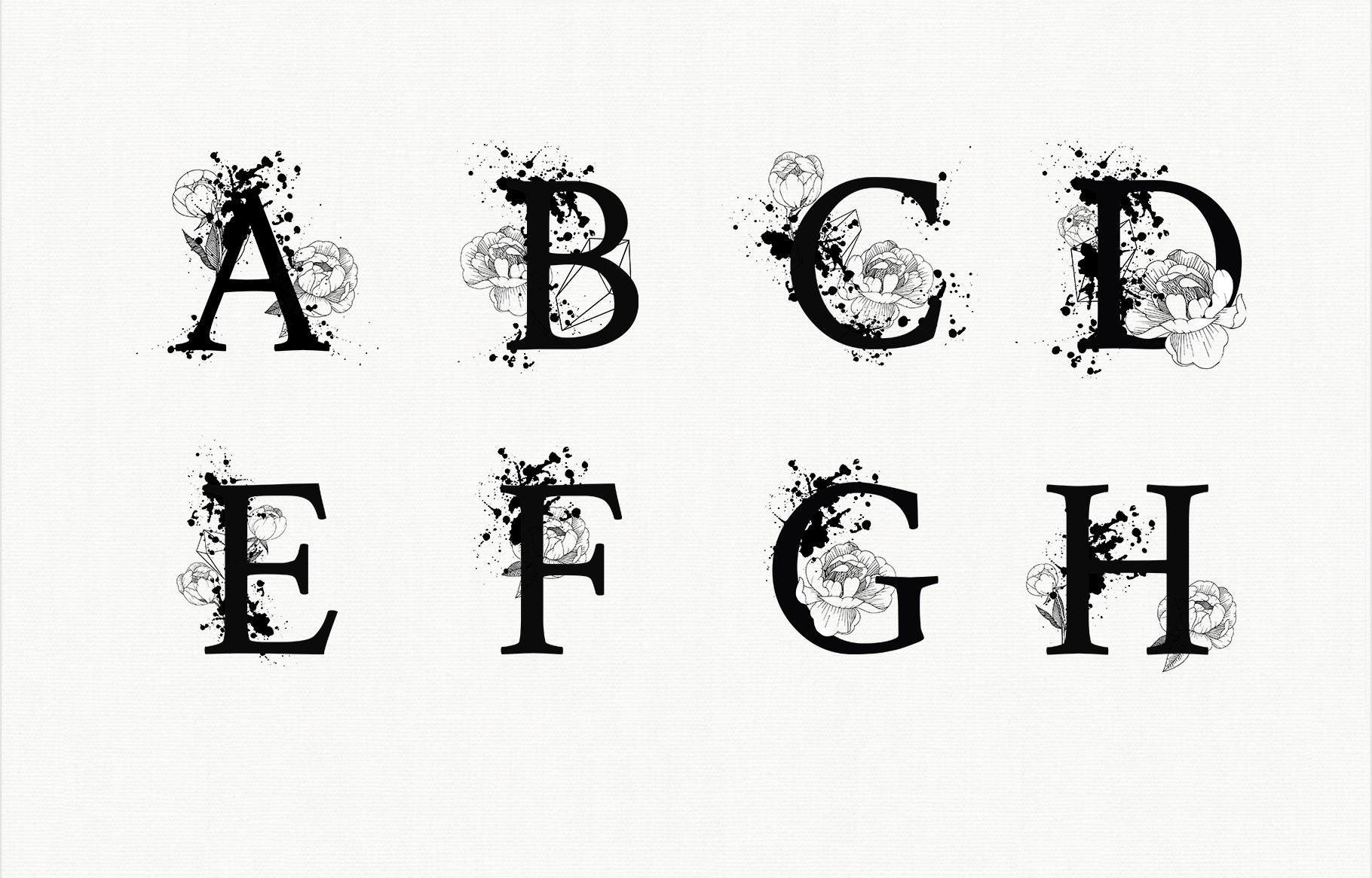 Split Letters A-Z SVG, Alphabet Letters A-Z example image 2