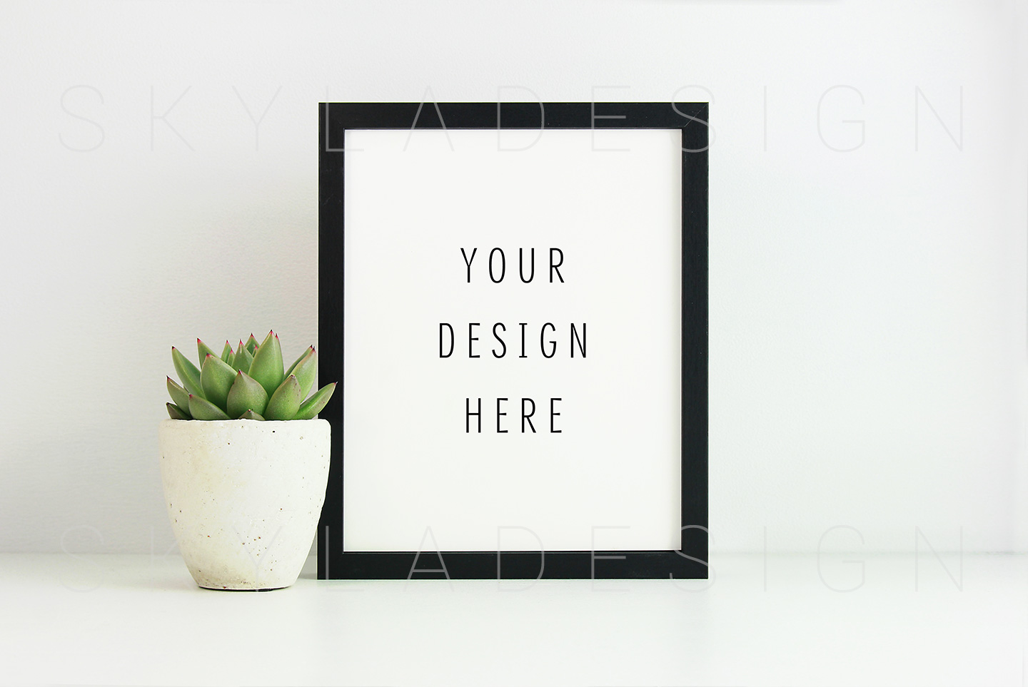 Black picture frame mockup example image 1