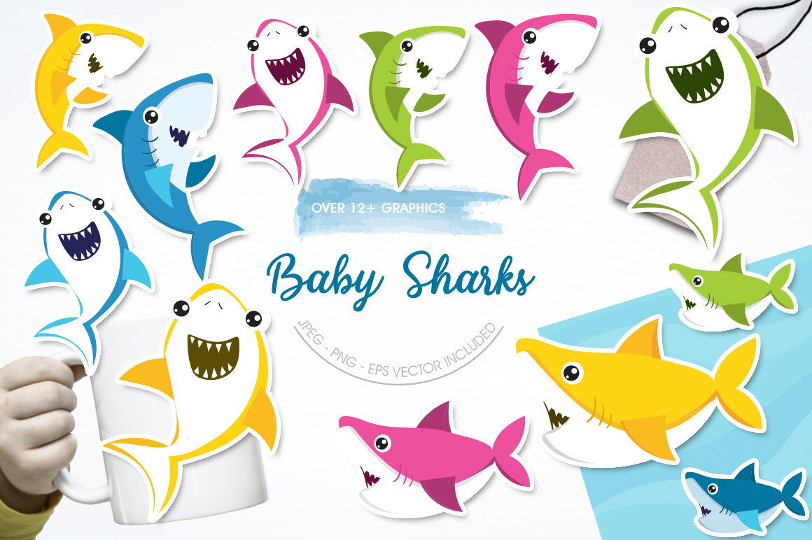 Baby Sharks graphic and illustrations example image 1