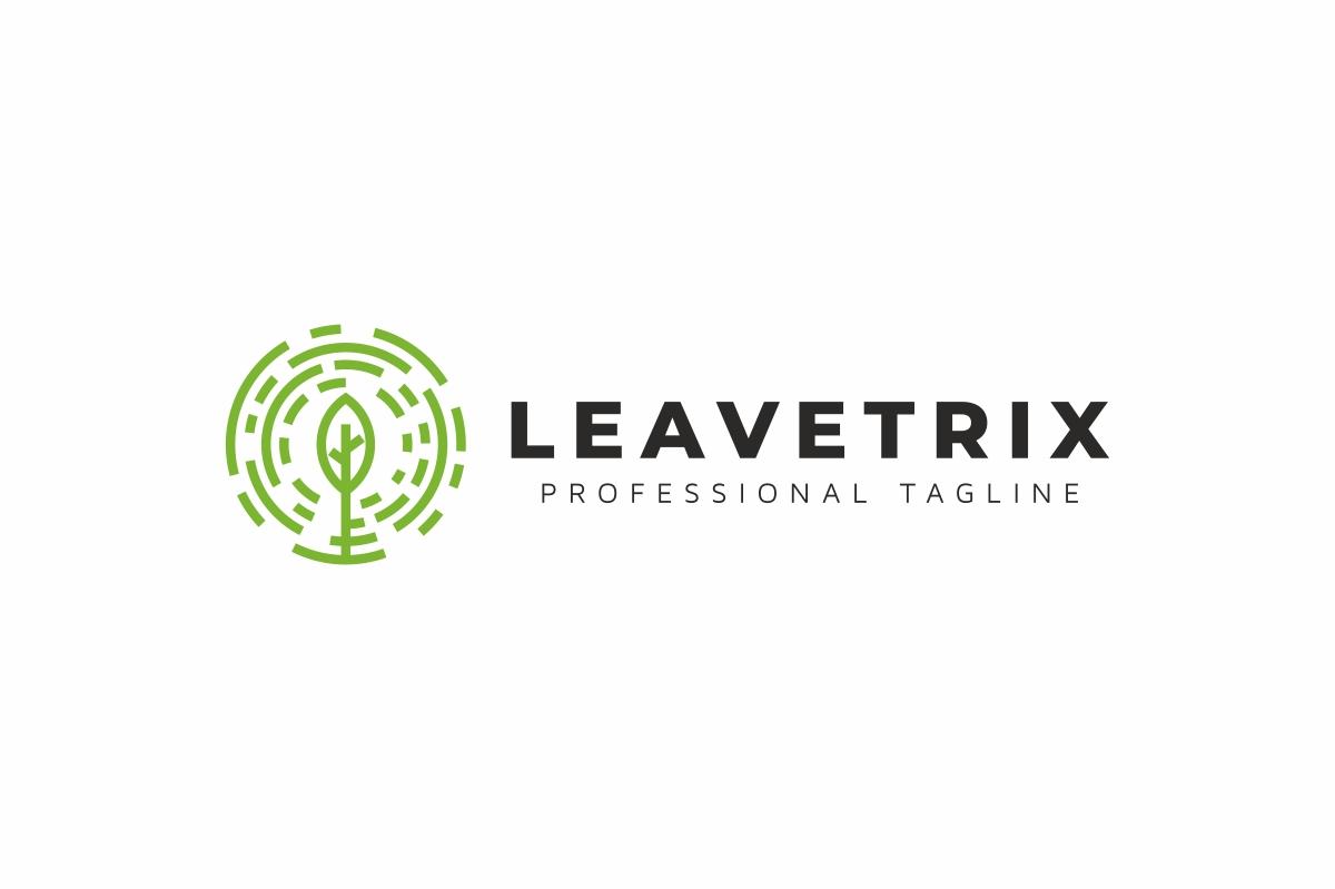 Leaves Circle Tree Logo example image 3