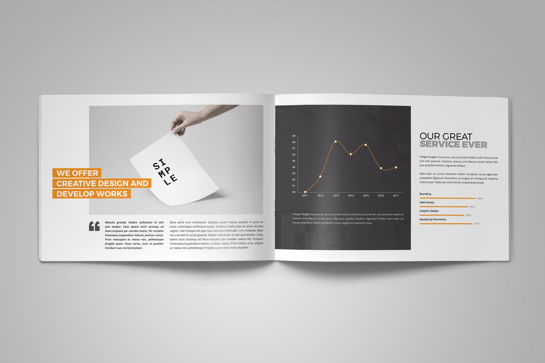 Portfolio Brochure Design v5 example image 4