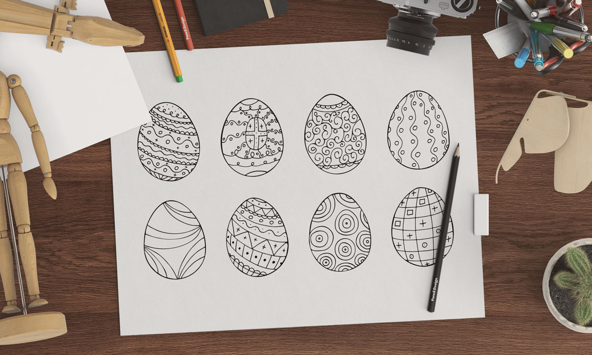 Easter eggs collection + patterns. example image 1