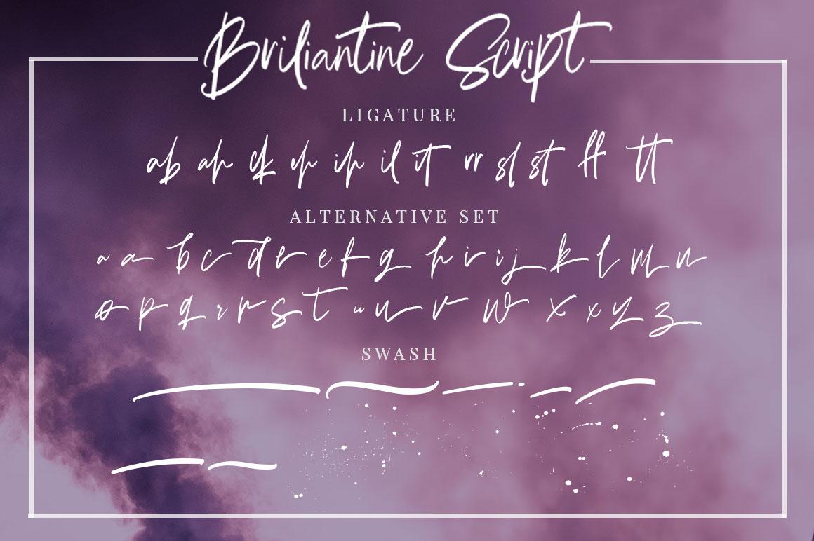 Briliantine Script example image 23
