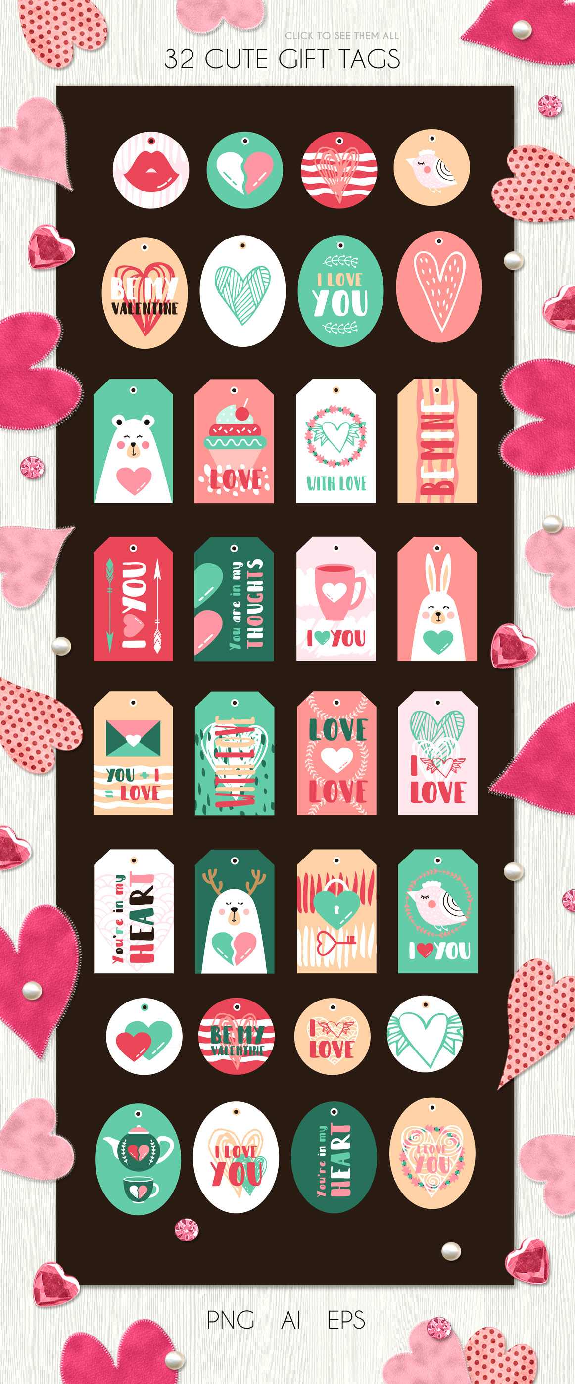 Valentine's day - vector kit example image 6