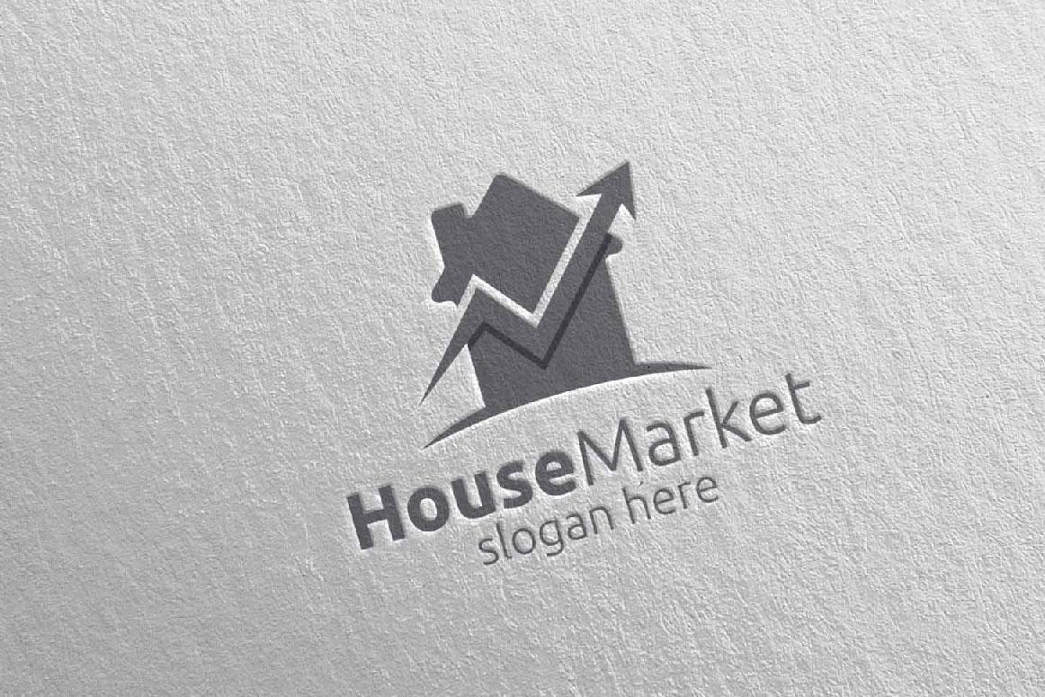 Real Estate Marketing Financial Advisor Logo Design 21 example image 5