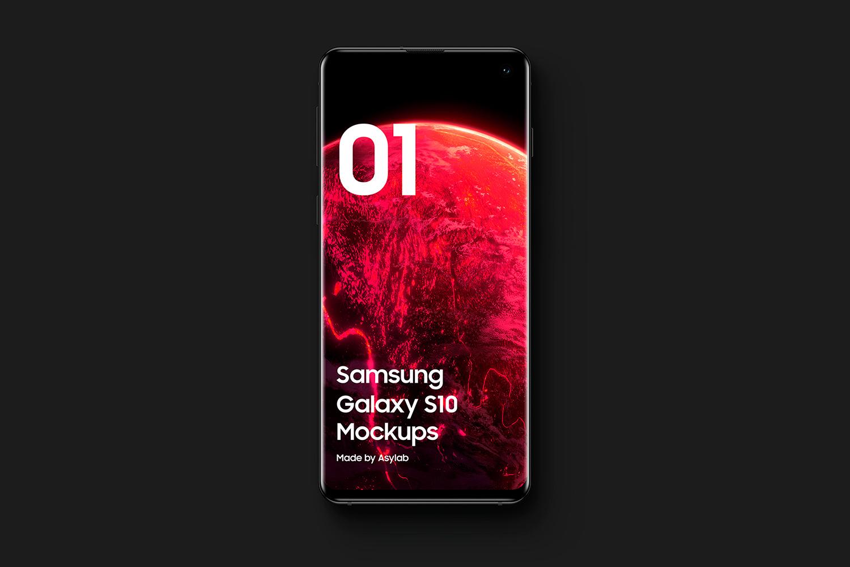 Samsung Galaxy S10 - 21 Mockups - 5K - PSD example image 9
