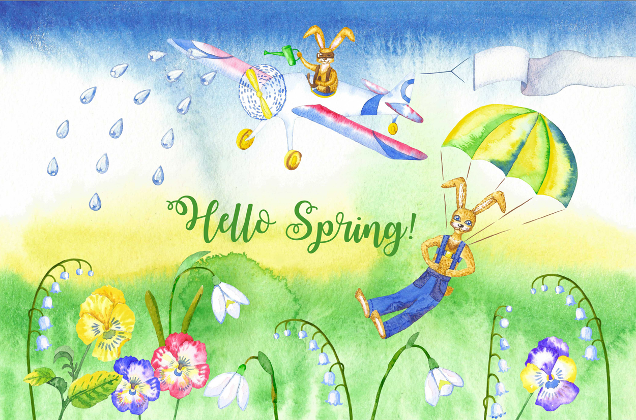 Welcome Spring! Rabbits Descent example image 6