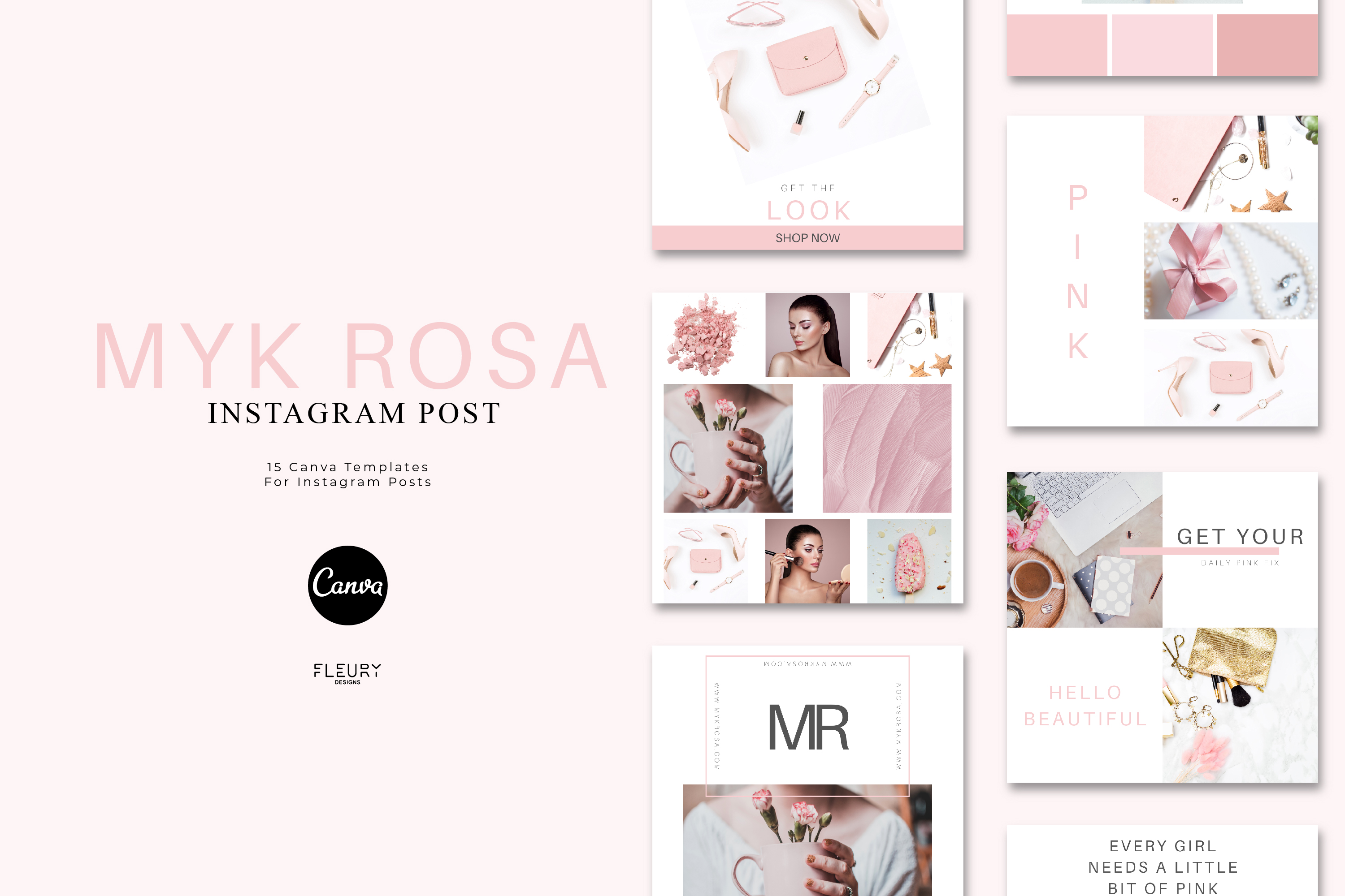 Instagram Posts Canva Template - Myk Rosa example image 1
