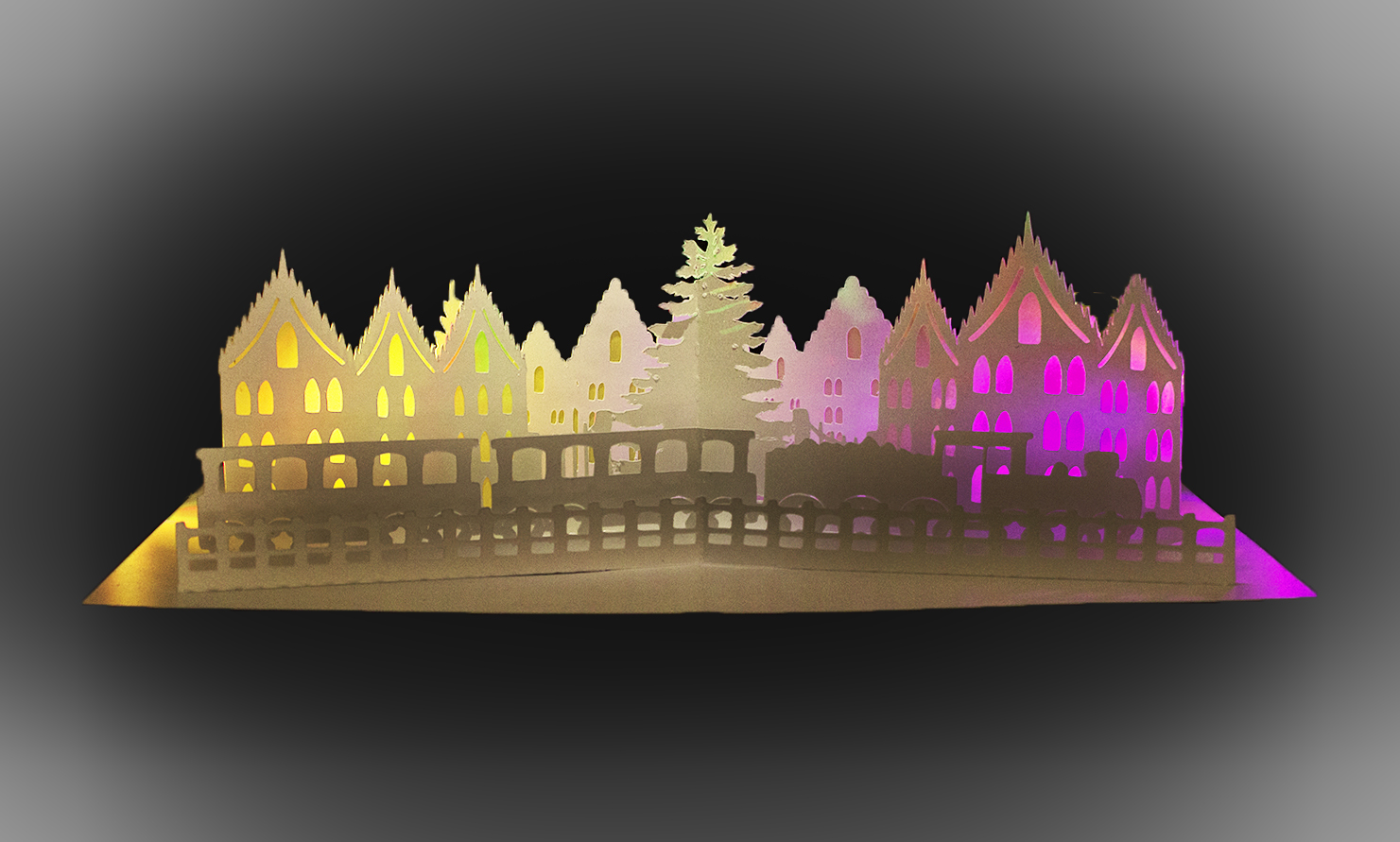 Festive Train pop up greetings card example image 4