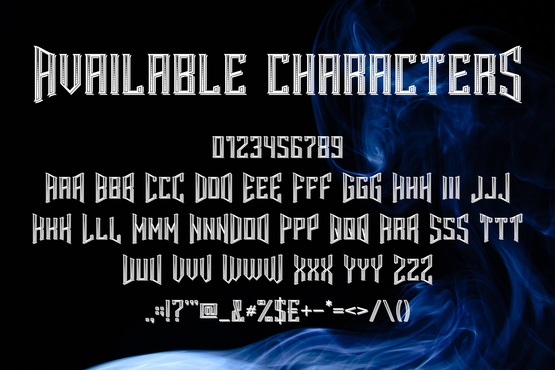 Smokers typeface example image 2