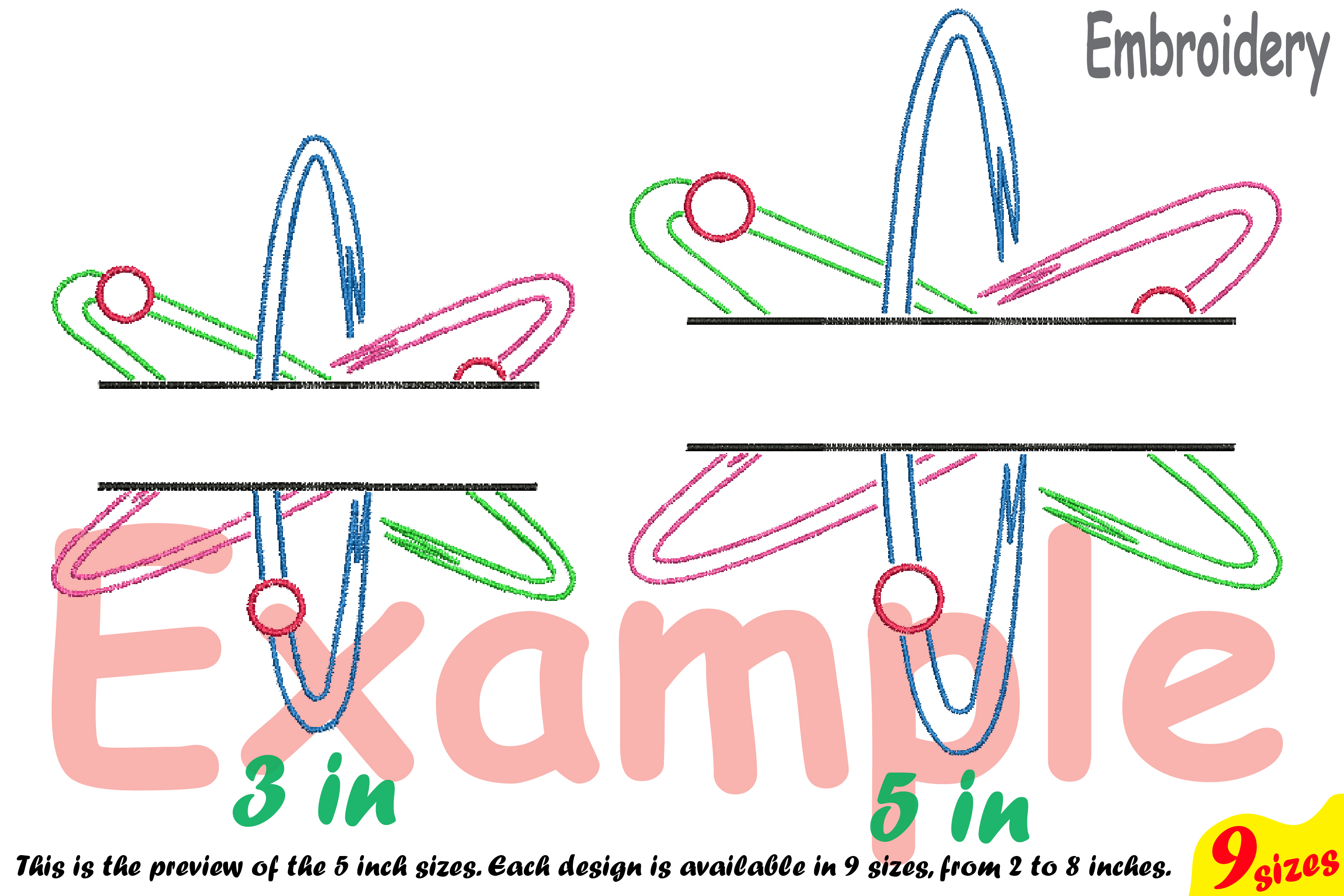 Split Atom Science Designs for Embroidery Machine Instant Download Commercial Use digital file hoop sign Nuclear Fission outline 192b example image 3