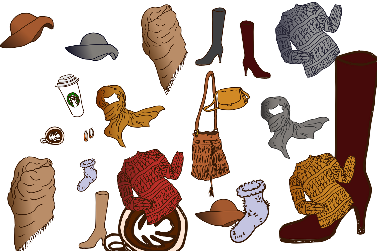 Sweater Weather Clip Art example image 3