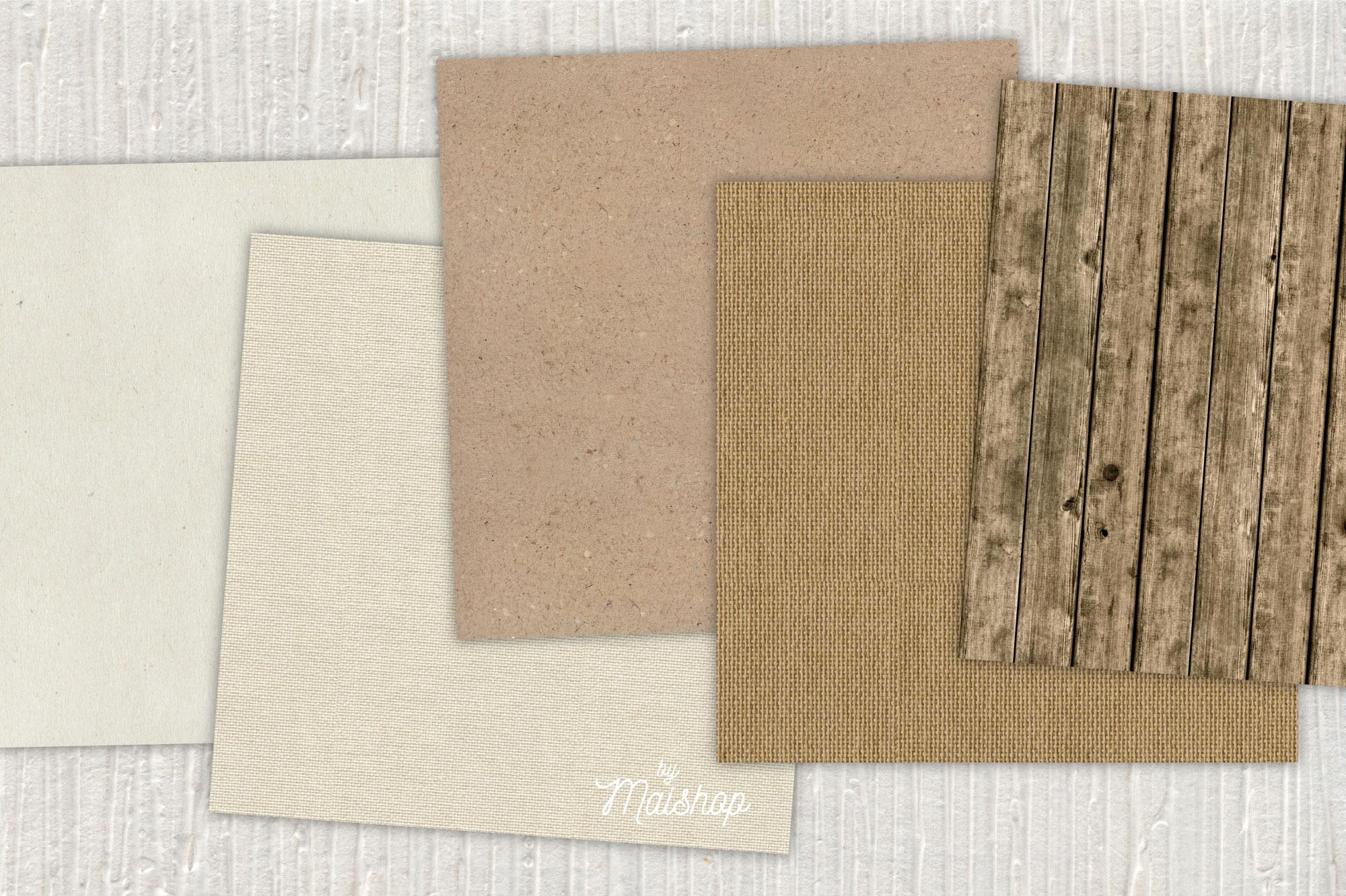 """Digital Paper Pack """"Rustic Natural"""" Set 01 example image 3"""