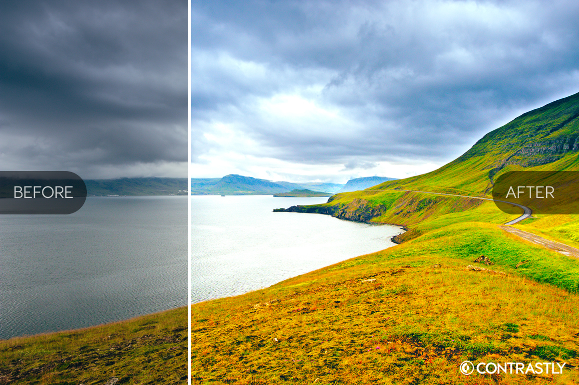 Vibrant Landscape Photoshop Actions example image 2