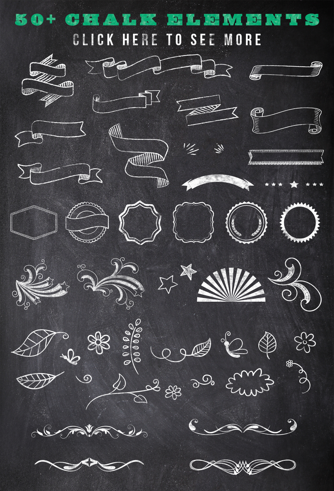 Chalk Poster Ad Creator Kit example image 2