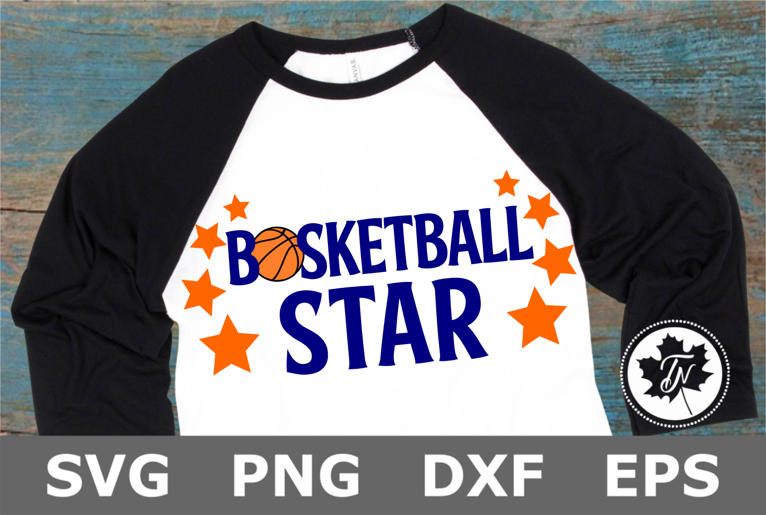 Basketball Star - A Sports SVG Cut File example image 2