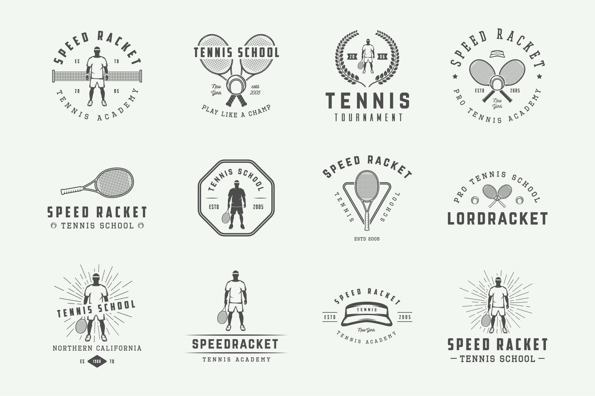 Vintage Tennis Emblems Bundle example image 3